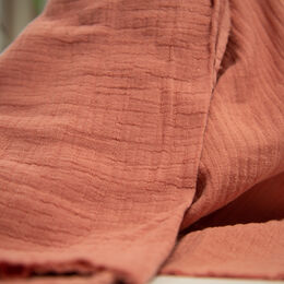 Double gauze, cotton-bamboo: old pink