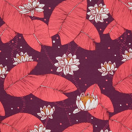 Digital print: Waterlilys, plum