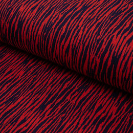 BARK cotton jacquard knit: red&marine blue