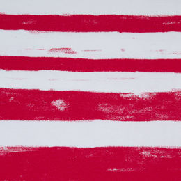 Digital print: Stripes, red