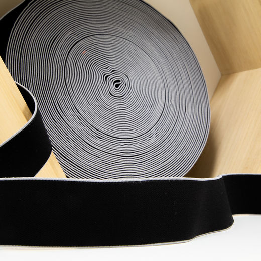 40mm elastic for boxers: black-grey