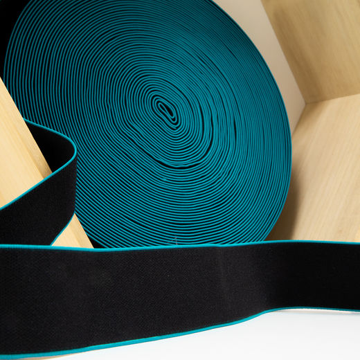 40mm elastic for boxers: black-aqua