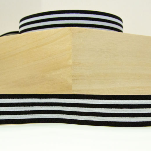 Elastic Stripe 40 mm: black-white