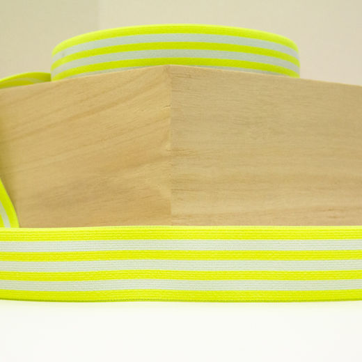 Elastic Stripe 40 mm: neon yellow-white