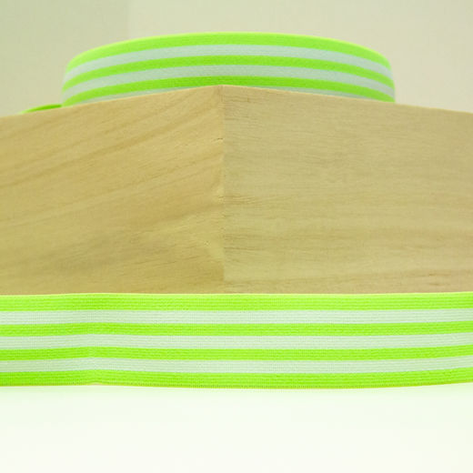 Elastic Stripe 40 mm: neon green-white