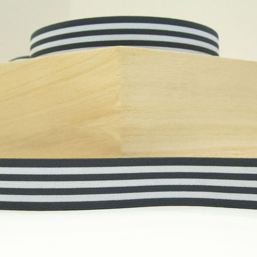 Elastic Stripe 40 mm: dark grey-white