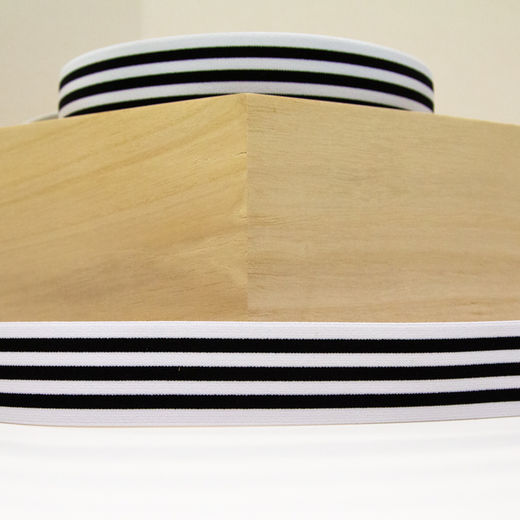 Elastic Stripe 40 mm: white-black
