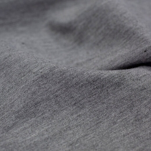 Grey melange bamboo sweatshirt knit