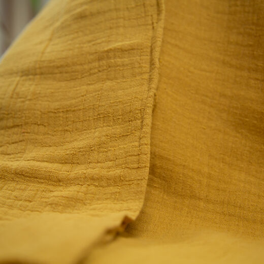 Double gauze, cotton-bamboo: dry mustard