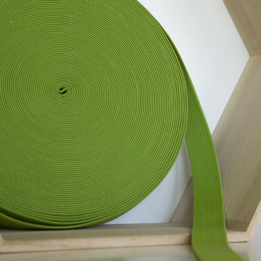 25mm elastic for boxers: lime
