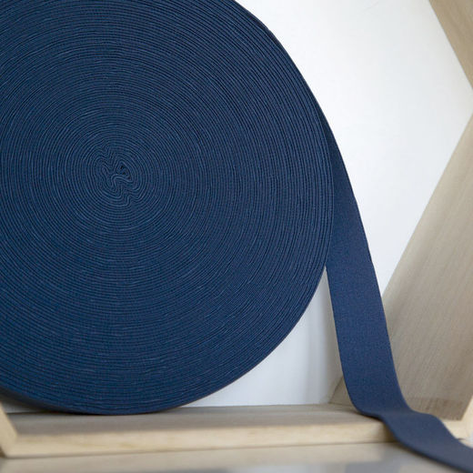 25mm elastic for boxers: jeans blue