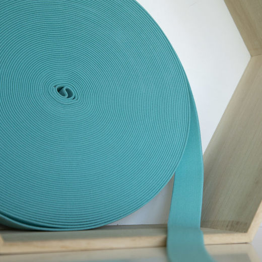 25mm elastic for boxers: seablue