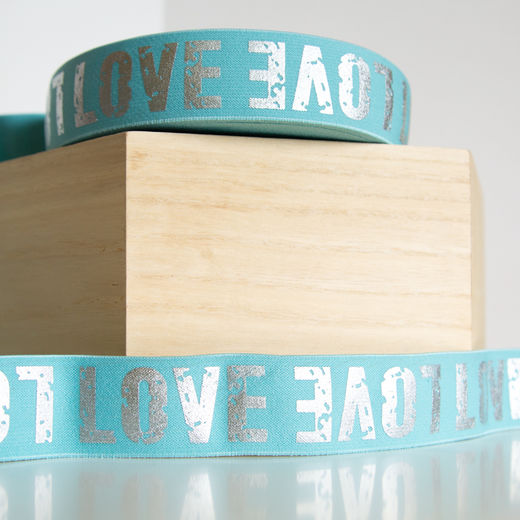 40mm elastic for boxers: Love, mint