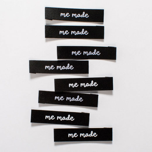 Woven label, 8 pack: me made