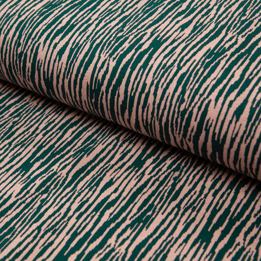 BARK cotton jacquard knit: emerald&light peach