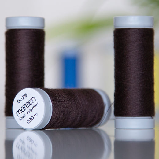 Dark brown sewing thread