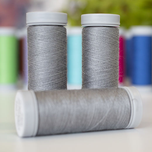 Grey sewing thread