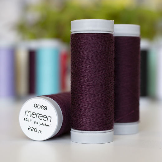 Plum sewing thread