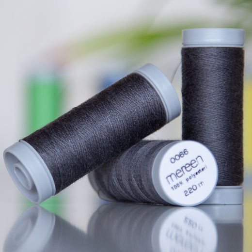 Dark grey sewing thread