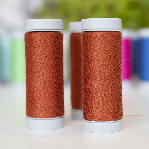 Terracotta sewing thread