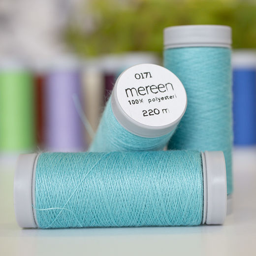 Turquoise sewing thread