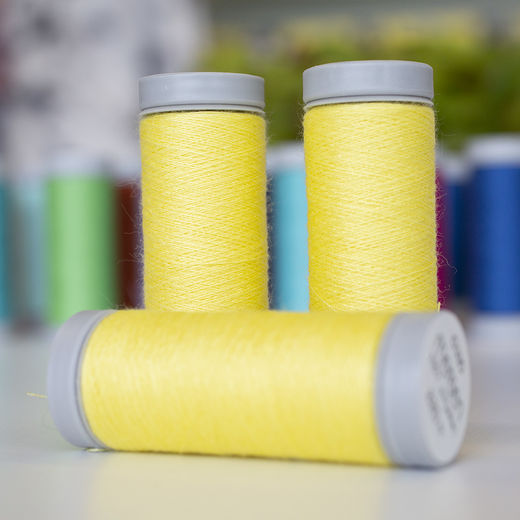 Light yellow sewing thread