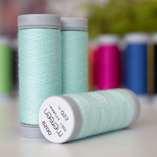 Light mint sewing thread