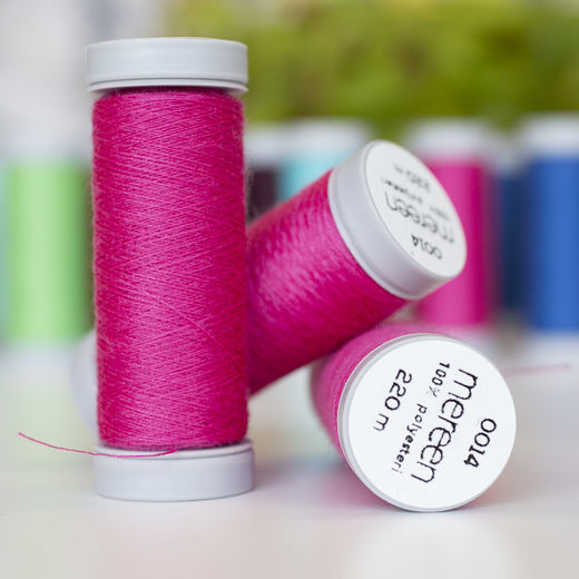 Raspberry sewing thread
