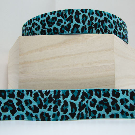40mm elastic for boxers: Panther, turquoise