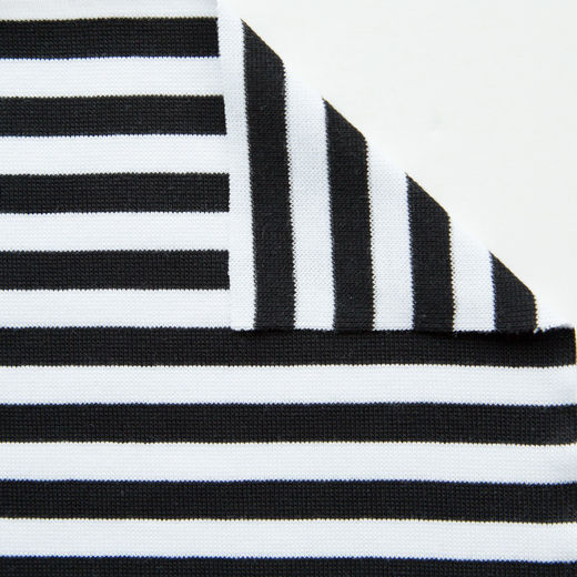 Organic rib knit: Black-white