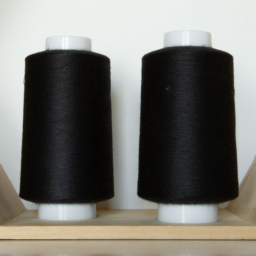 Black overlock thread