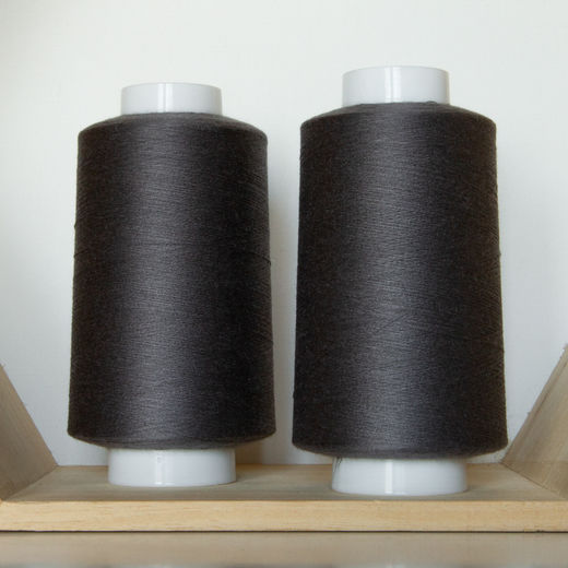 Dark grey overlock thread
