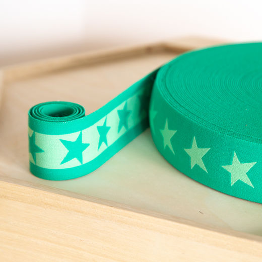 Star 40mm elastic for boxers: jade-apple