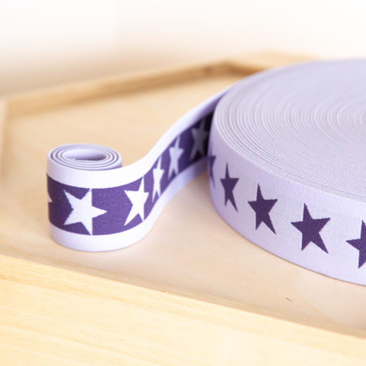 Star 40mm elastic for boxers: lilac-purple