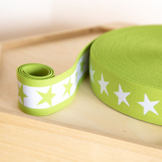 Star 40mm elastic for boxers: lime