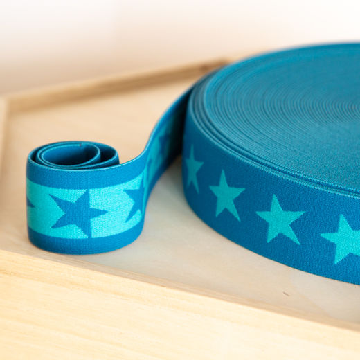 Star 40mm elastic for boxers: dark petrol-ocean