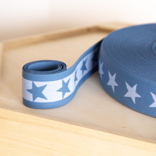 Star 40mm elastic for boxers: light jeans-light blue
