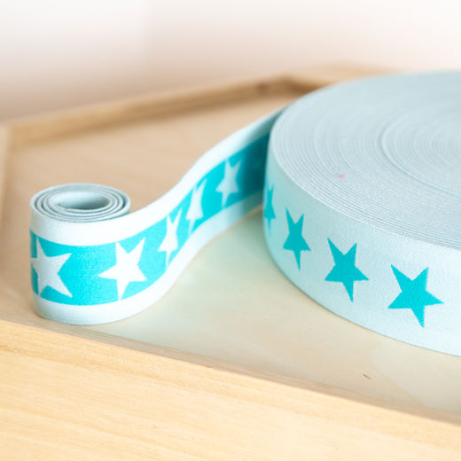 Star 40mm elastic for boxers: mint-dark mint