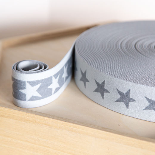 Star 40mm elastic for boxers: light grey-grey