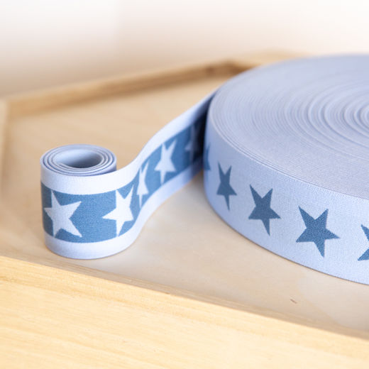 Star 40mm elastic for boxers: light blue-light jeans