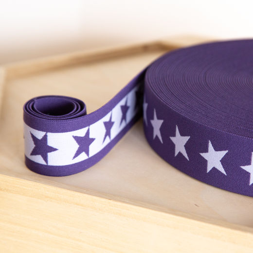 Star 40mm elastic for boxers: purple-lilac