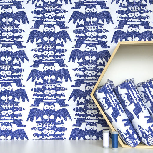 Totem animals deep blue