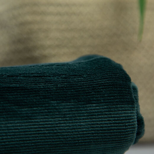 Jersey velours corduroy: emerald green