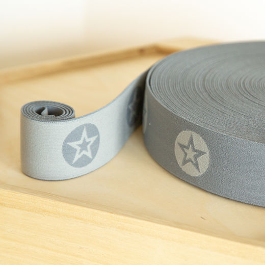 RoundStar 40mm elastic for boxers: grey-middle grey
