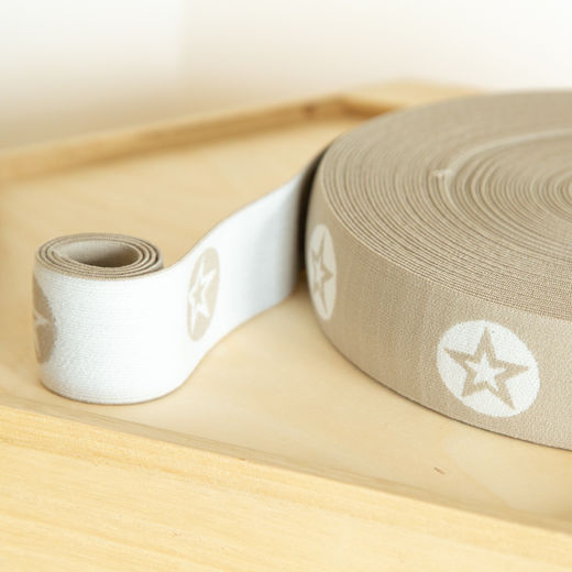 RoundStar 40mm elastic for boxers: beige