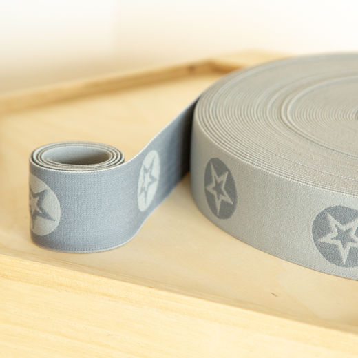 RoundStar 40mm elastic for boxers: middle grey-grey