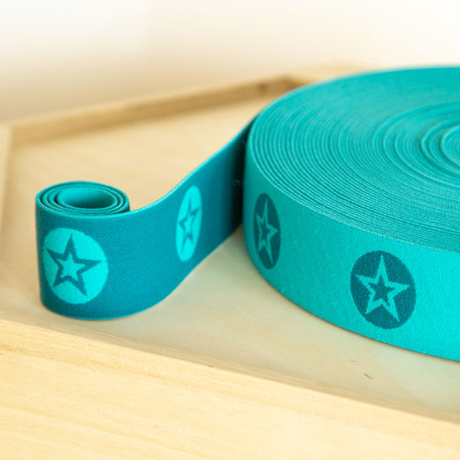 RoundStar 40mm elastic for boxers: dark mint-mint