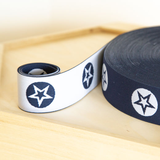 RoundStar 40mm elastic for boxers: dark blue